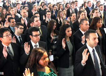 LLS Alumni at the Swearing In Ceremony being sworn in to the California Bar.